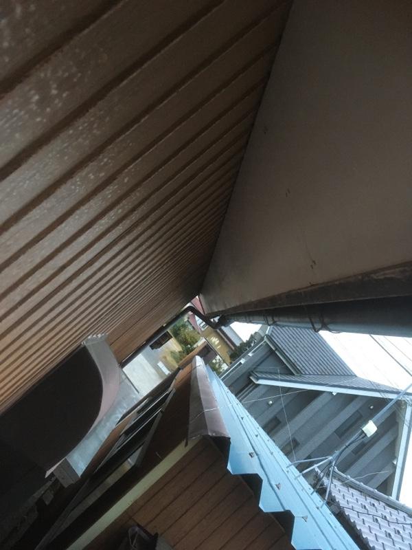 およそ6m分の軒先天井張り替え